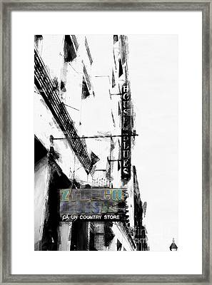Characteristics Of New Orleans-zydeco Blues Framed Print
