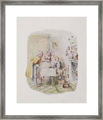 Characters From Oliver Twist Framed Print by British Library