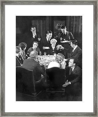 Characters Of The Hallam Family On The Booth Framed Print