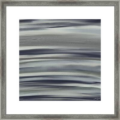 Charcoal And Blue Framed Print