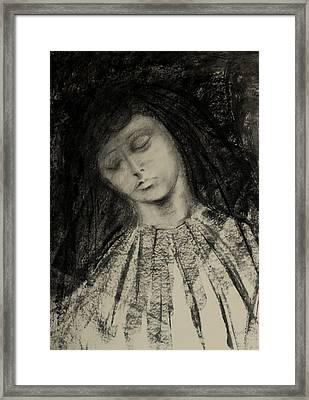 Charcoal Drawing Framed Print by Lynn Hughes