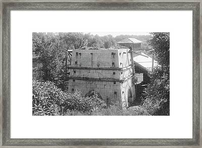 Charcoal Furnace Framed Print by Hagley Museum And Archive