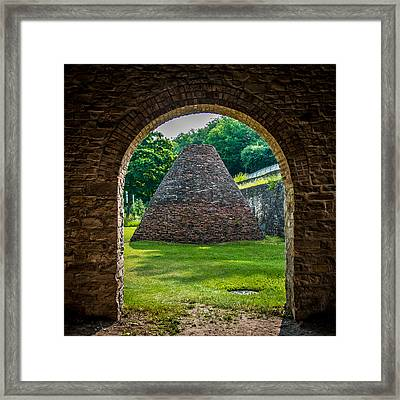 Charcoal Kiln Framed Print
