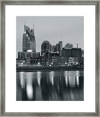 Charcoal Nashville Framed Print