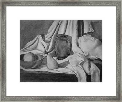 Charcoal Still Life Framed Print