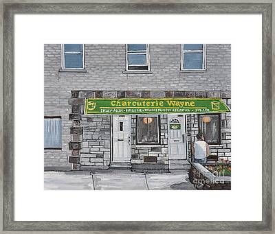 Charcuterie Wayne Pointe St. Charles Framed Print by Reb Frost