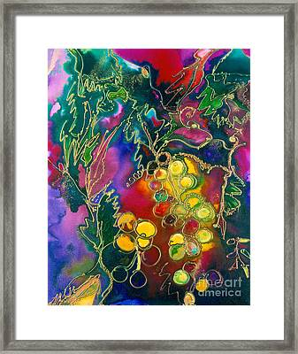 Chardonnay Grapes Framed Print by Twyla Gettert