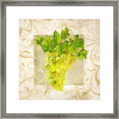 Chardonnay II Framed Print by Lourry Legarde
