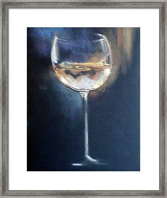 Chardonnay Ode To Teresa Framed Print by Susan Richardson-Kaumans