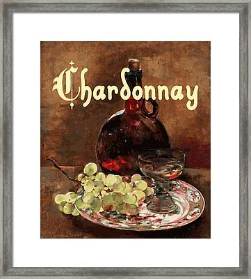 Chardonnay Vintage Advertisement Framed Print by