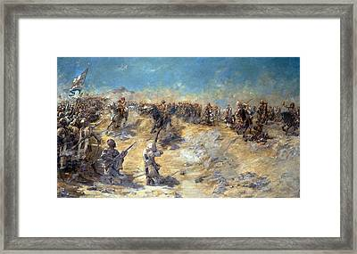 Charge Of The 21st Lancers Framed Print by Edward Matthew Hale