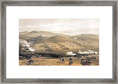 Charge Of The Light Cavalry Brigade Framed Print