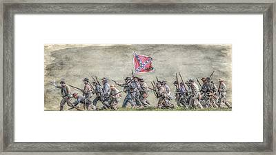 Charge Of The Virginia Regiment At Gettysburg Framed Print by Randy Steele