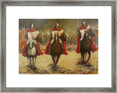 Charge To Battle Framed Print