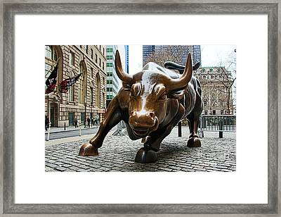 Charging Bull 1 Framed Print by Nishanth Gopinathan