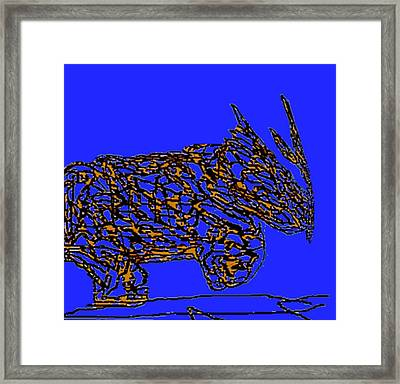 Charging Rhino Framed Print by Jamie ian Smith
