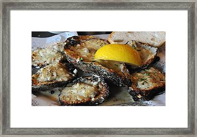 Chargrilled Oysters Framed Print
