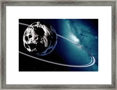 Chariklo Minor Planet And Rings Framed Print by Detlev Van Ravenswaay