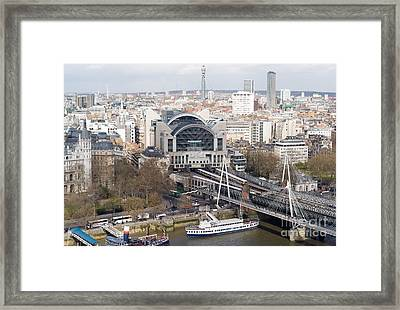 Charing Cross Station And Hungerford Bridge I Framed Print by Clarence Holmes