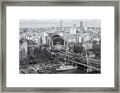 Charing Cross Station And Hungerford Bridge II Framed Print by Clarence Holmes