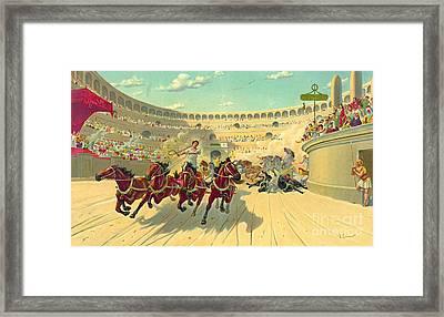 Chariot Race 1840 Framed Print