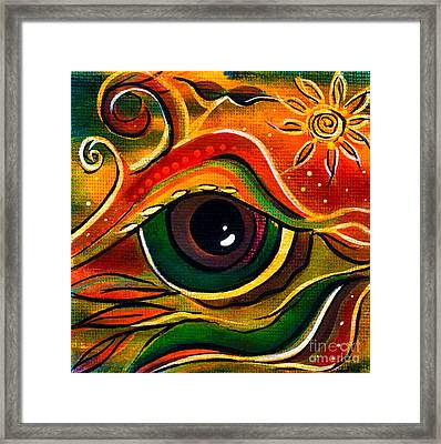 Charismatic Spirit Eye Framed Print by Deborha Kerr