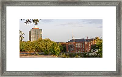 Framed Print featuring the photograph Charite And Alexanderturm In Berlin by Art Photography