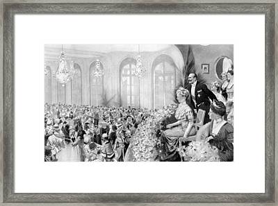 Charity Ball, 1911 Framed Print