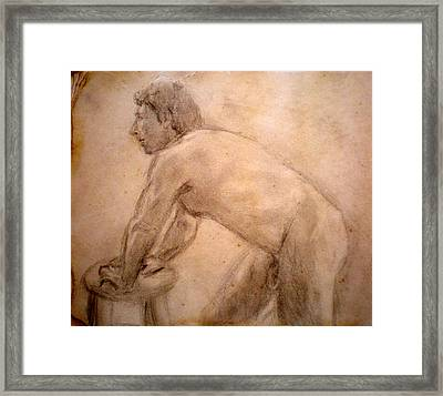 Charity Figure Drawing 2 Framed Print by Steve Spagnola