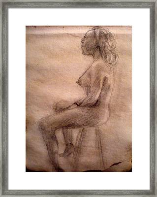 Charity Figure Drawing 3 Framed Print by Steve Spagnola