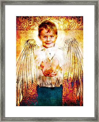 Charity Of Angels Framed Print