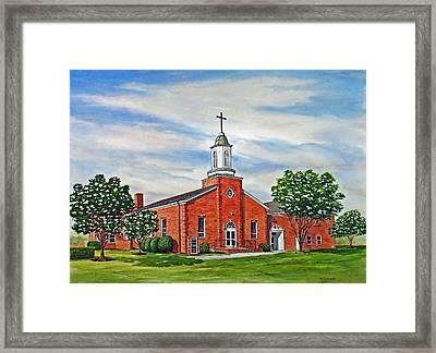 Charity United Methodist Church Framed Print