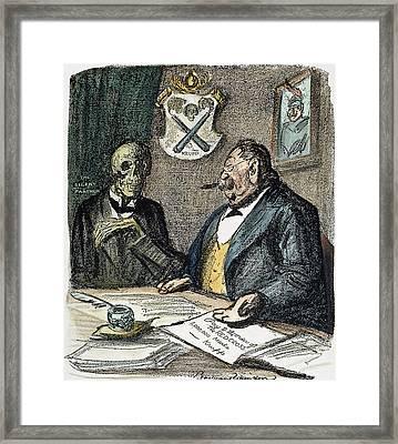 Wwi Cartoon, 1915 Framed Print by Granger
