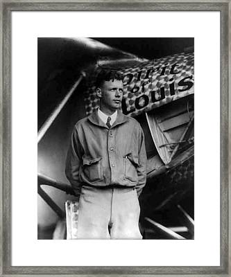 Charles A Lindbergh Spirit Of St. Louis  Framed Print by Unknown
