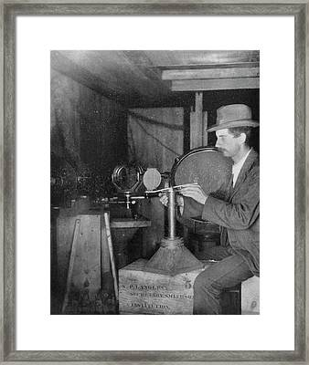 Charles Abbot Framed Print by Emilio Segre Visual Archives/american Institute Of Physics