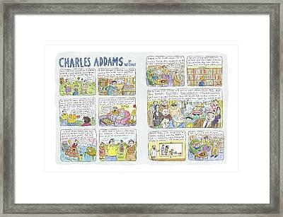 Charles Addams Framed Print