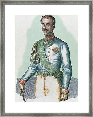 Charles Albert (turin 1798-porto Framed Print by Prisma Archivo