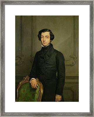 Charles-alexis-henri Clerel De Tocqueville 1805-59 1850 Oil On Canvas Framed Print
