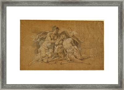 Charles-antoine Coypel, Diana And Endymion Framed Print