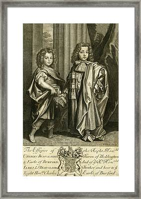 Charles Beauclerk, First Duke Of St Framed Print by Mary Evans Picture Library