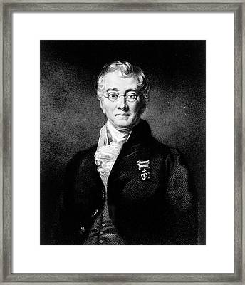 Charles Bell Framed Print by National Library Of Medicine