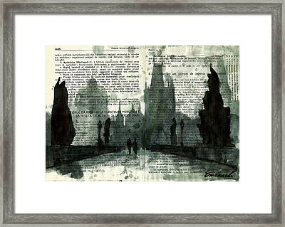 Charles Bridge - Prague Framed Print by Ologeanu Mirel