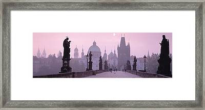 Charles Bridge And Spires Of Old Town Framed Print