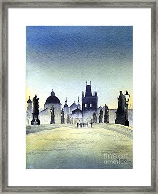 Charles Bridge Framed Print by Bill Holkham