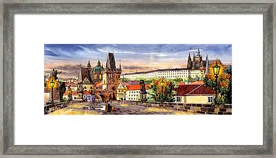 Charles Bridge Castle Vita Framed Print by Dmitry Koptevskiy