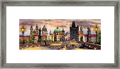 Charles Bridge Framed Print by Dmitry Koptevskiy