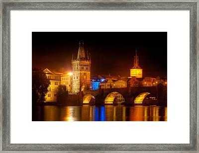Charles Bridge II- Prague Framed Print by John Galbo