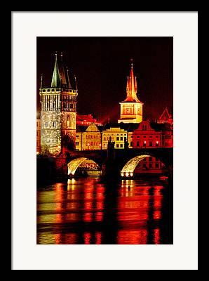 Karluv Most Digital Art Framed Prints