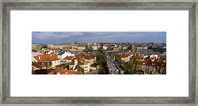 Charles Bridge Moldau River Prague Framed Print