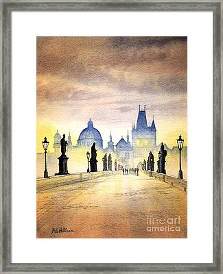 Charles Bridge Prague Framed Print by Bill Holkham